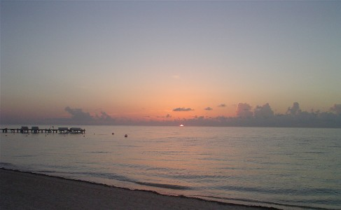cancun beaches sunrise