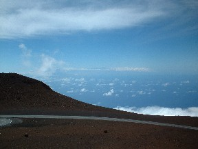 Big Island from Haleakala summit